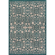 Loloi Newport Area Rug - Grey & Teal - 100% Polypropylene