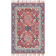 Loloi Zharah Area Rug - Rose & Denim 100% Wool