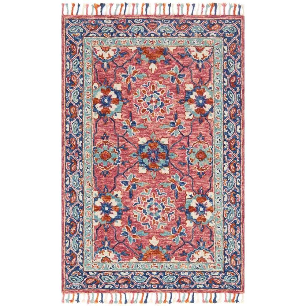 Loloi Zharah Area Rug Rose Denim