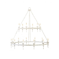 Lowcountry Originals Lighting Two Tier Circular Tubing Chandelier LCO-175-2 TIER