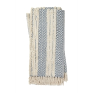 Magnolia Home by Joanna Gaines Colleen Blue & Ivory Throw Blanket COLLT1032BBIV