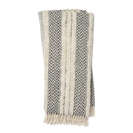 Magnolia Home by Joanna Gaines Colleen Black & Ivory Throw Blanket COLLT1032BLIV