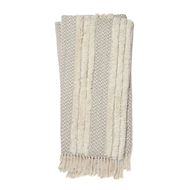 Magnolia Home by Joanna Gaines Colleen Grey & Ivory Throw Blanket COLLT1032GYIV