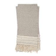 Magnolia Home by Joanna Gaines Mackie Brown & Ivory Throw Blanket MACKT1031BRIV