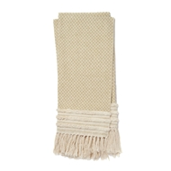 Magnolia Home by Joanna Gaines Mackie Gold & Ivory Throw Blanket MACKT1031GOIV