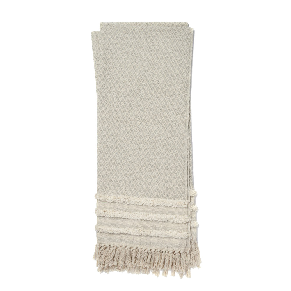 Magnolia Home by Joanna Gaines Mackie Grey & Ivory Throw Blanket