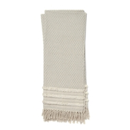 Magnolia Home by Joanna Gaines Mackie Grey & Ivory Throw Blanket MACKT1031GYIV