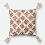 Magnolia Home by Joanna Gaines Blush & Ivory Pillow P1055 - Designer Pillow