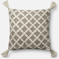 Magnolia Home by Joanna Gaines Grey & Ivory Pillow P1055 - Designer Pillow