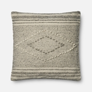 Magnolia Home by Joanna Gaines Grey & Ivory Pillow P1056 - Designer Pillow
