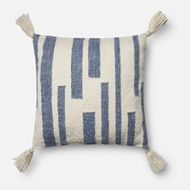 Magnolia Home by Joanna Gaines Navy & Ivory Pillow P1057 - Designer Pillow