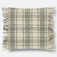 Magnolia Home by Joanna Gaines Ivory & Grey Pillow P1061 - Designer Pillow