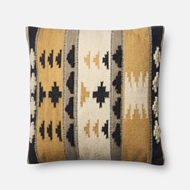 Magnolia Home by Joanna Gaines Gold & Black Pillow P1065 - Designer Pillow