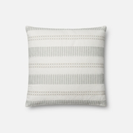 Magnolia Home by Joanna Gaines White & Light Blue Pillow P1066 - Designer Pillow