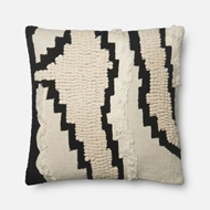 Magnolia Home by Joanna Gaines Natural & Black Pillow P1068 - Designer Pillow