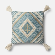 Magnolia Home by Joanna Gaines Blue & Multi Pillow P1070 - Designer Pillow