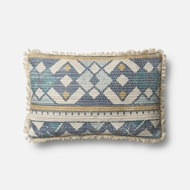 Magnolia Home by Joanna Gaines Blue & Multi Pillow P1071 - Designer Pillow