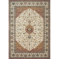 Magnolia Home Evie Rug by Joanna Gaines - Ivory & Terracotta
