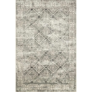 Magnolia Home Lotus Rug by Joanna Gaines - Ivory & Black