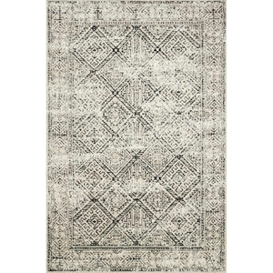 Magnolia Home Lotus Rug - Ivory & Black by Joanna Gaines