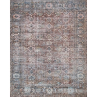 Magnolia Home Lucca Rug by Joanna Gaines - Brick & Ocean