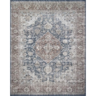 Magnolia Home Lucca Rug by Joanna Gaines - Denim & Terracotta