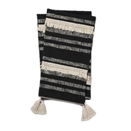 Magnolia Home by Joanna Gaines Lucy Black & Ivory Throw Blanket LUCYT1035BLIVTH01