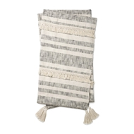 Magnolia Home by Joanna Gaines Lucy Ivory & Black Throw Blanket LUCYT1035IVBLTH01