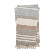 Magnolia Home by Joanna Gaines Maye Taupe & Multi Throw Blanket MAYET1036TAMLTH01