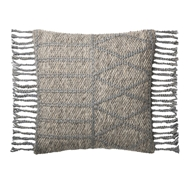 Magnolia Home by Joanna Gaines Grey & Grey Pillow P1101 - Designer Pillow