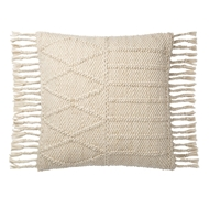 Magnolia Home by Joanna Gaines Ivory & Ivory Pillow P1101 - Designer Pillow