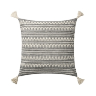 Magnolia Home by Joanna Gaines Dk. Grey & Ivory Pillow P1102 - Designer Pillow