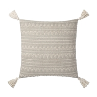 Magnolia Home by Joanna Gaines Lt Grey & Ivory Pillow P1102 - Designer Pillow