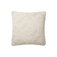 Magnolia Home by Joanna Gaines Ivory & Ivory Pillow P1105 - Designer Pillow