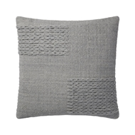 "Magnolia Home by Joanna Gaines 22"" x 22"" Amelie Pillow Grey - P1110"