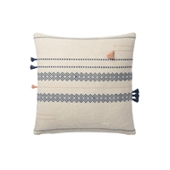 Magnolia Home by Joanna Gaines Multi & Blue Pillow P1113 - Designer Pillow