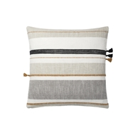 Magnolia Home by Joanna Gaines Multi & Grey Pillow P1114 - Designer Pillow