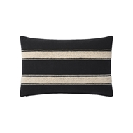 Magnolia Home by Joanna Gaines Black & Ivory Pillow P1115 - Designer Pillow