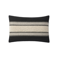 Magnolia Home by Joanna Gaines Black & Ivory Pillow P1116 - Designer Pillow