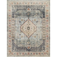 Magnolia Home Graham Rug - Blue & Ant. Ivory by Joanna Gaines