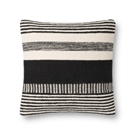 Magnolia Home by Joanna Gaines Black & Ivory Pillow P1117 - Designer Pillow