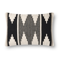 Magnolia Home by Joanna Gaines Black & Ivory Pillow P1118 - Designer Pillow