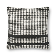 Magnolia Home by Joanna Gaines Black & Ivory Pillow P1119 - Designer Pillow