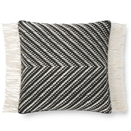 Magnolia Home by Joanna Gaines Black & Ivory Pillow P1121 - Designer Pillow