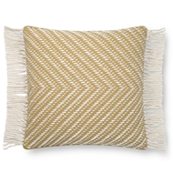 Magnolia Home by Joanna Gaines Gold & Ivory Pillow P1121 - Designer Pillow