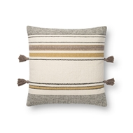 Magnolia Home by Joanna Gaines Gold & Multi Pillow P1123 - Designer Pillow