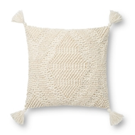 Magnolia Home by Joanna Gaines Ivory Pillow P1125 - Designer Pillow