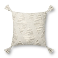 Magnolia Home by Joanna Gaines Ivory Pillow P1126 - Designer Pillow