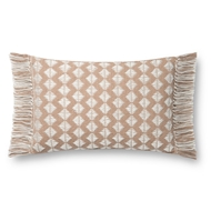 Magnolia Home by Joanna Gaines Blush & Ivory Pillow P1127 - Designer Pillow