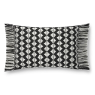 Magnolia Home by Joanna Gaines Black & Ivory Pillow P1127 - Designer Pillow